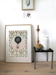 """Poster - Papeterie Poster """"Ballon"""" Poster im Format 50x70 cm 16,00 € inkl. MwSt., zzgl. Versandkosten"""