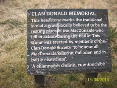 Commemoration of the Battle of Culloden, April 2013