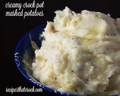 Creamy Crock Pot Mashed Potatoes - add shredded sharp cheddar