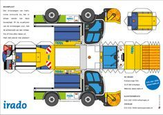 Free Download Paper Model Trucks | Patterns and Templates on Pinterest | Paper Shoes, Templates and ...