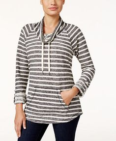 Style & Co. Striped Cowl-Neck Top, Only at Macy's | macys.com