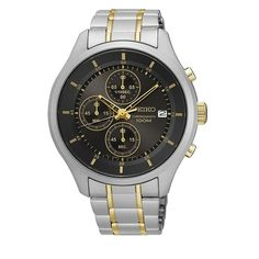 Seiko Men's SKS543  Gray Dial Stainless Steel Chronograph Watch with Date