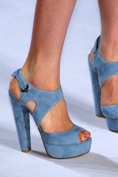Suede blue sandals. Discover products you love at getrockerbox.com