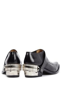 Leather Removable Harness Shoe Boot