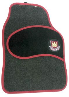 West Ham United FC Car Floor Mats Set 4 Pack Two Front Two Rear in Vehicle Parts & Accessories, Car Accessories, Interior   eBay #football #team #sport #play #exercise #cool #modern #support #teamplayer #fan #footballfan #WestHam #WestHamUnited #FC #FA #car #van #rug #mat #clean