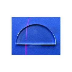 Useful for refraction experiment - exit ray is normal to surface. Semi-circular Acrylic Lens, 75mmbase, 12mmthick