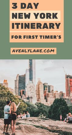 New York Itinerary for first timer's:The best way to spend 3 days in New York City. Trying to cram a two week vacation into three days? This New York travel guide will help you as you plan your trip so you won't miss any of the top things to do in New York City.  Including the Brooklyn Bridge, Time Square, shopping, the Empire State Building, Central Park and so much more!  #newyork #NYC #travel #usatravel #travelblog #avenlylane #avenlylanetravel…