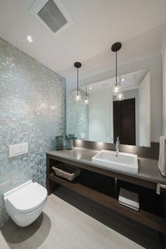 Iridescent Glass Tile Gold Design Ideas, Pictures, Remodel, and Decor - page 11