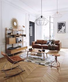 Mid-Century Modern Suspension Luminaire Ideas For Your Living Room