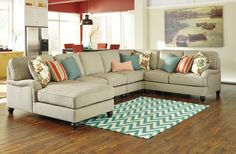 Kerridon - Putty 5 Pc. LAF Chaise Sectional Sectional | 26300/16/34/46/77/56…That Furniture Outlet, Minnesota's #1 Furniture Outlet