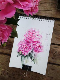 Watercolor garden. Part 5 - Peony on Behance