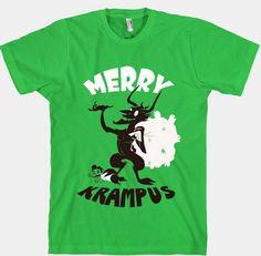 happy krampus green