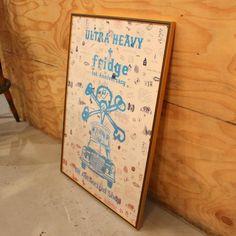fridge限定1st ANIVERSERY ULTRA HEAVY POSTER  JERRY鵜飼氏直筆サイン シリアルナンバー入り - 東京都世田谷区にあるEDWINA HOERL等コレクションブランドやアウトドアブランド,古着を提案するセレクトショップ fridge setagaya