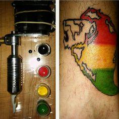 tattoo leon de jah reggae rasta