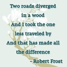 Robert Frost - where the imprint name of Two Roads comes from