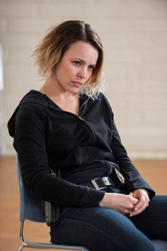True Detective, Season 2, Episode 5   Bezzerides (Rachel McAdams) is doing uniformed evidence-room duty while her sex-harassment case works its way through internal affairs.