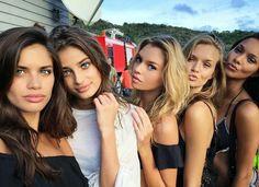 Victoria secret angels Sara Sampaio, Taylor Hill, Stella Maxwell, Josephine Skriver and Lais Ribeiro