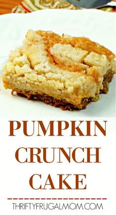 Lower Excess Fat Rooster Recipes That Basically Prime This Easy Pumpkin Crunch Cake Combines A Soft Pumpkin Custard Bottom With A Delightfully Delicious Crunchy Topping To Create A Totally Addictive Pumpkin Dessert Via Frugalmoml Pumpkin Crunch Cake, Pumpkin Dessert, Delicious Desserts, Dessert Recipes, Yummy Food, Cookbook Recipes, Dessert Bars, Cupcake Recipes, Vegan Desserts