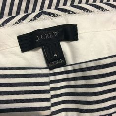 J Crew Pants Blue/White Striped Crop Pant- 100% Cotton- Inseam 26 inches- like new condition J. Crew Pants Ankle & Cropped