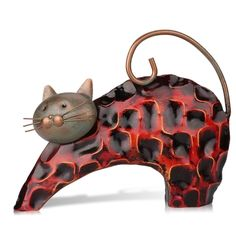 (19.99$)  Watch here  - Tooarts Metal sculptrue  Iron sculpture  Abstract sculpture    Lazy cat    Animal sculpture  Crafting   Home furnishing articles     Decoration   Art