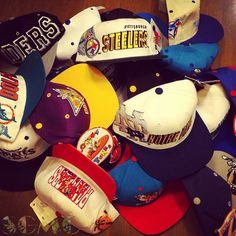 newest 02139 b1a71 Deadstock snapback hats made in the 80s and 90s. Unworn and in perfect  condition,