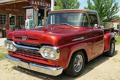 1960 F-100 step side. Nice truck !! Tough looking...
