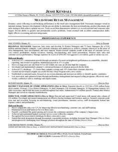 District training manager resume