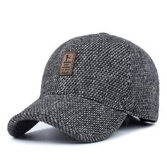 Men's Knitted Winter Baseball Cap With Earflaps - Black,Gray,Coffee  Snapback  Baseball Hats Outfit Shop Product Website Store Online Hats For guys outfit style fashion design mens men for boys mens accessories cool 2017 look products shops websites for sale online store shop trend awesome gifts ideas inspiration for teens Winter autumn/fall AuhaShop.com
