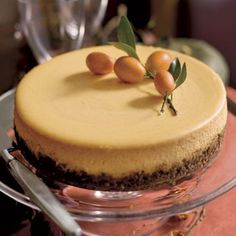 Pumpkin Goat Cheese Cheesecake~this looks great  (but note to self...i must not look at food pins when i'm hungry)