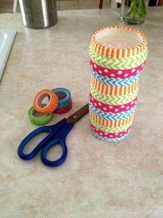 Washi Tape Creamer Bottle DIY