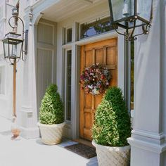 Charmant Traditional Home Front Door Planters Design, Pictures, Remodel, Decor And  Ideas   Page