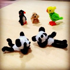 Pipe cleaner pandas are relaxing.                                                                                                                                                                                 More
