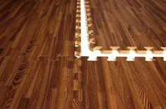 "5/8"" Soft Wood Foam Mats 2'x2' Home Gym Flooring Tiles Anti Fatigue 12 Tile Pack 48 Sqft (NOAH/AARON - Playroom)"