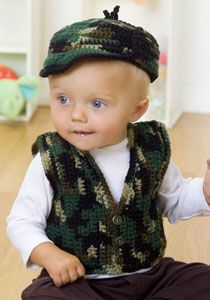 http://www.purplekittyyarns.com/free-baby-patterns/wr1757/babys-gone-a-hunting-vest-and-hat# . . . . . Why does this very cute pattern make me think of Southards?