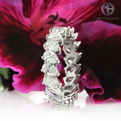 This 3.65ct Pear Shaped Diamond Eternity Band is for a chic lady.