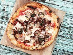 Sausage and Radicchio Pizza
