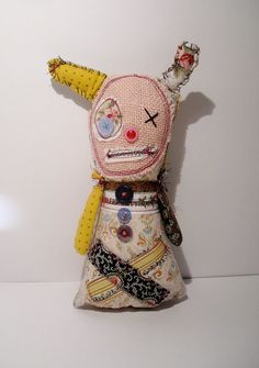 Handmade Art Doll Monster Dulce by JunkerJane