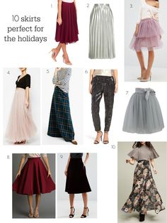 10 Skirts Perfect for the Holidays!