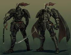 A mix of samurai and knight? Fantasy Samurai, Samurai Warrior, Fantasy Armor, Samurai Concept, Character Concept, Character Art, Concept Art, Character Design, Character Ideas