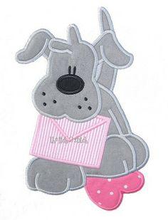 Puppy Love Applique Design