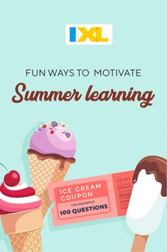 IXL's printable coupons are a simple and fun way to reward your children for their summertime efforts and inspire them to keep learning all summer long! By setting achievable goals and celebrating success, you can ensure that they are always working toward the next challenge! Summer Months, Summer Fun, Going For Gold, Family Night, Food Themes, Printable Coupons, Our Kids, Summer Activities, School Days