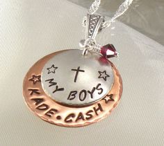 jewelry for moms of boys | Personalized Mothers Jewelry - Hand Stamped My Boys Necklace - Kids ...