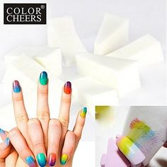 nananana 10PCS Professional Manicure Sponge Nail Art Tools for Gradient Color Nail ArtandMulit-color Nail * Click on the image for additional details.