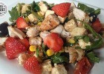 Hähnchen Salat mit Erdbeeren