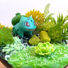 Bulba and the poison swamp ________ #sharksnail #bulbasaur #pokemondiorama #bisasam Bulbasaur, Yoshi, Shark, Dinosaur Stuffed Animal, Etsy, Animals, Fictional Characters, Dioramas, Pokemon Images