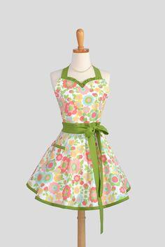 Sweetheart Retro Apron / Cute Kitchen Full Retro by CreativeChics, $39.00