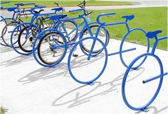 These bike racks would also look great around my town.