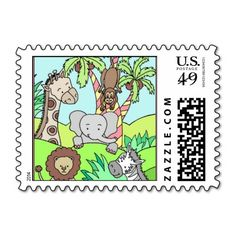 Baby Jungle 26 Stamps! Make your own stamps more personal to celebrate the arrival of a new baby. Just add your photos and words to this great design.