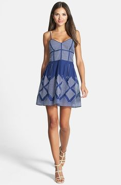 Parker 'Francis' Fit & Flare Dress available at #Nordstrom