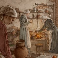 A Medieval Kitchen on Behance